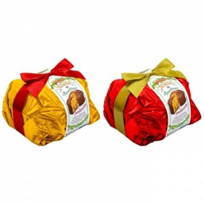 Фото упаковки пирога панеттоне рождественского Panettone di Pasticceria