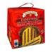 Фото упаковки, вид спереди кулич панеттоне Valentino с шоколад. кремом 750г