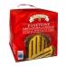 Фото упаковки, вид сзади кулич панеттоне Valentino с шоколадным кремом 750г