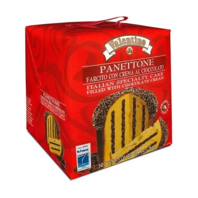 Фото упаковки рождественского панеттоне с шоколадным кремом 750г