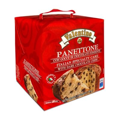 Фото упаковки пасхального кулича панеттоне с кусочками шоколада