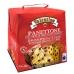 Фото упаковки, вид слева панеттоне с кусочками шоколада Valentino 750г