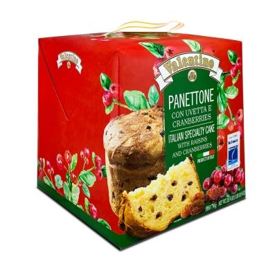 Фото упаковки пасхальный кулича панеттоне с изюмом и клюквой 750 грамм