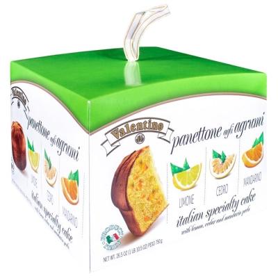 Фото упаковки пасхального кулича панеттоне с цитрусовыми цукатами 750 грамм