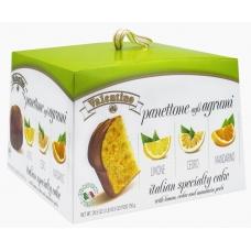 Кулич панеттоне пасхальный с цитрусовыми цукатами Valentino 750г