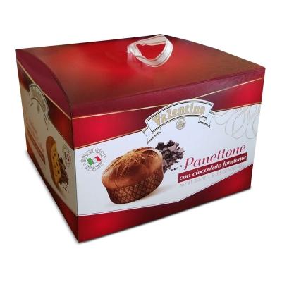Фото упаковки кулича панеттоне пасхального с кусочками темного шоколада