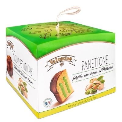 Фото упаковки кулича панеттоне пасхального с фисташковым кремом Valentino