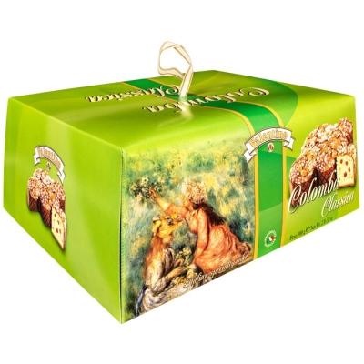 Фото упаковки пасхального кулича коломба Valentino традиционный Италия 900г