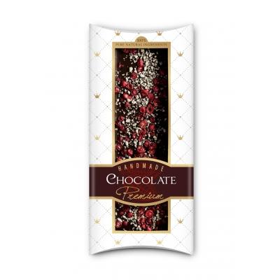 Фото упаковки шоколада Adikam с сублимированными кр. смородиной и яблоком